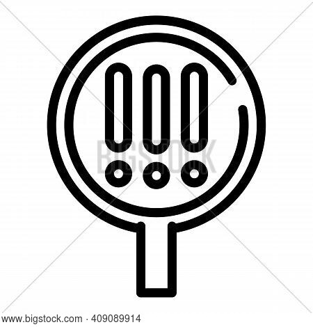 Attention Magnifier Icon. Outline Attention Magnifier Vector Icon For Web Design Isolated On White B