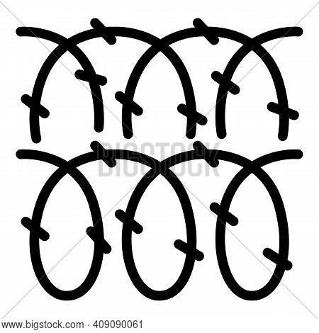 Spike Wire Icon. Outline Spike Wire Vector Icon For Web Design Isolated On White Background
