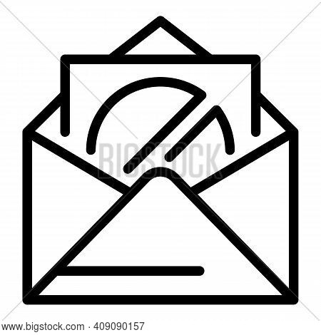 Restricted Mail Icon. Outline Restricted Mail Vector Icon For Web Design Isolated On White Backgroun