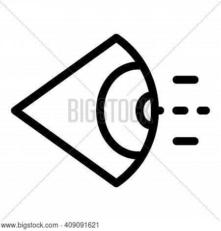 Eye Sense Icon. Outline Eye Sense Vector Icon For Web Design Isolated On White Background