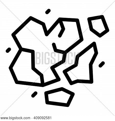 Power Asteroid Icon. Outline Power Asteroid Vector Icon For Web Design Isolated On White Background