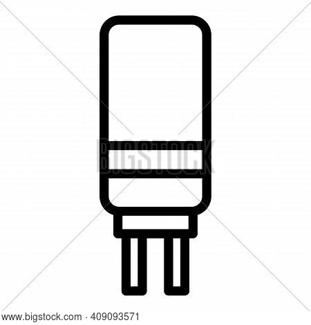 Resistor Icon. Outline Resistor Vector Icon For Web Design Isolated On White Background