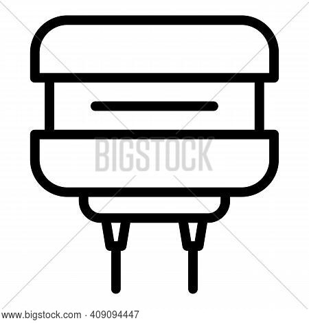 Resistor Tool Icon. Outline Resistor Tool Vector Icon For Web Design Isolated On White Background