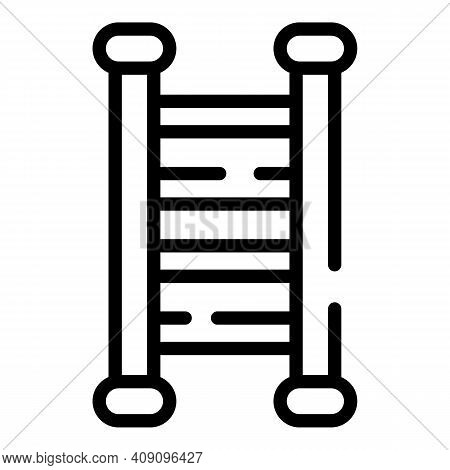 Fixed Ladder Icon. Outline Fixed Ladder Vector Icon For Web Design Isolated On White Background