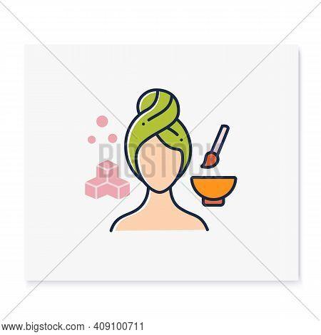 Exfoliating Face Scrub Color Icon. Organic Sugar Scrub, Spa Procedures. Natural Skincare Concept.fac
