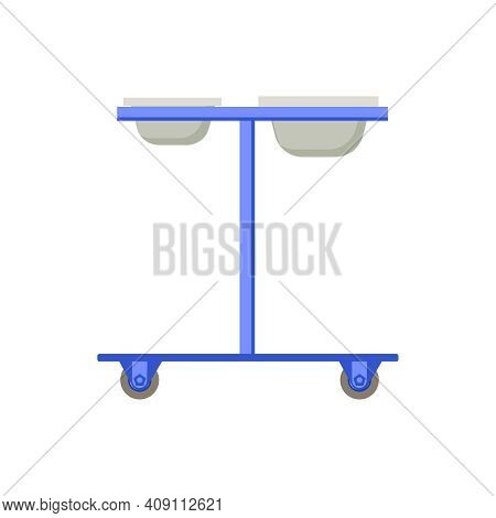 Plastic Surgery Flat Composition With Body Contouring Rejuvenation Dripper Stand Image Vector Illust