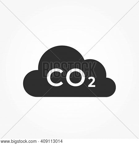 Co2 Emissions Icon. Carbon Dioxide Pollution. Ecology And Environment Symbol. Isolated Vector Image