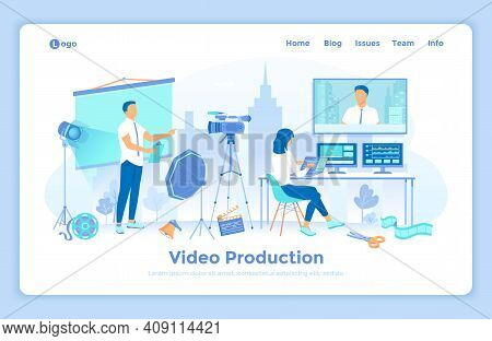 Video Production, Recording, Videography, Blogging. Video Filming In The Studio With Presenter. Vide