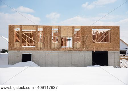 Plywood Construction Houses New Window Building Framework