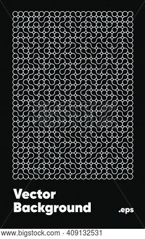 Abstract Vector Background Metaballs Pattern. Gradient Metabols Pattern