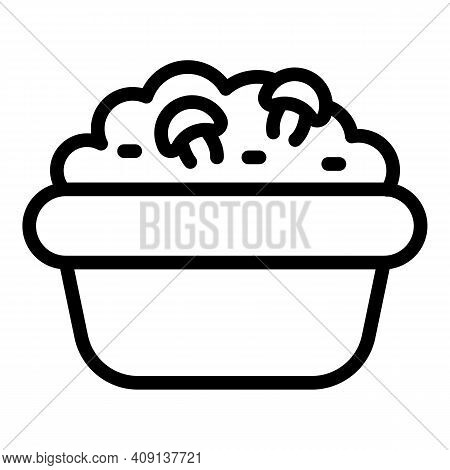 Mashed Potatoes Icon. Outline Mashed Potatoes Vector Icon For Web Design Isolated On White Backgroun
