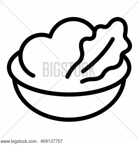Mashed Potatoes Meal Icon. Outline Mashed Potatoes Meal Vector Icon For Web Design Isolated On White