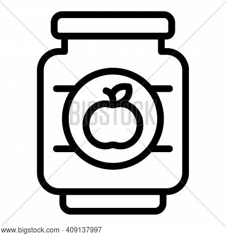 Apple Preserves Icon. Outline Apple Preserves Vector Icon For Web Design Isolated On White Backgroun