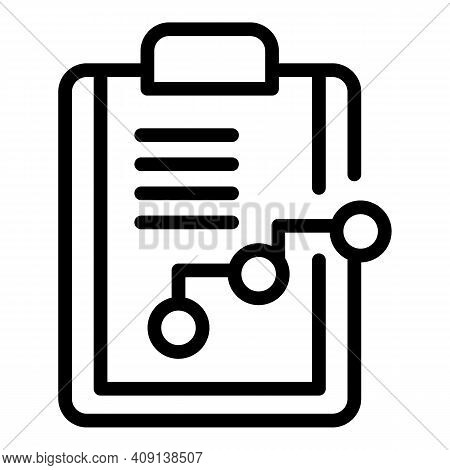 Economy Report Icon. Outline Economy Report Vector Icon For Web Design Isolated On White Background