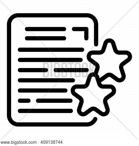 Project Features Icon. Outline Project Features Vector Icon For Web Design Isolated On White Backgro