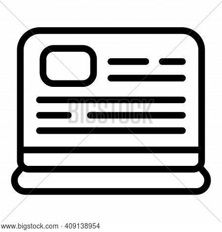 Brand Social Project Icon. Outline Brand Social Project Vector Icon For Web Design Isolated On White