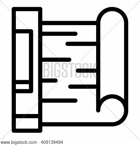 Paper Sheet Product Icon. Outline Paper Sheet Product Vector Icon For Web Design Isolated On White B