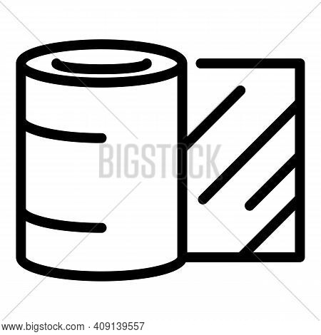 Paper Roll Icon. Outline Paper Roll Vector Icon For Web Design Isolated On White Background