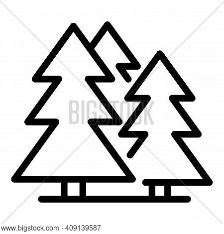 Trees Paper Material Icon. Outline Trees Paper Material Vector Icon For Web Design Isolated On White