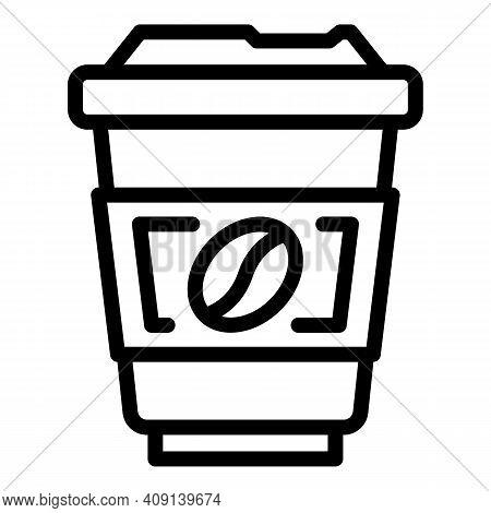 Americano Coffee Icon. Outline Americano Coffee Vector Icon For Web Design Isolated On White Backgro