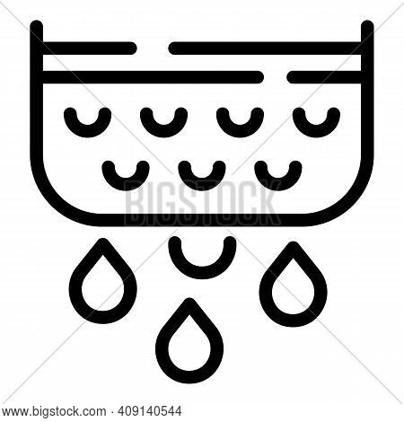 Drops Dairy Product Icon. Outline Drops Dairy Product Vector Icon For Web Design Isolated On White B