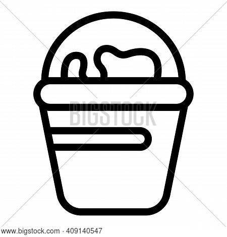 Bucket Dairy Product Icon. Outline Bucket Dairy Product Vector Icon For Web Design Isolated On White