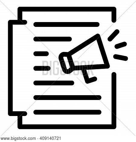 Promoting Process Icon. Outline Promoting Process Vector Icon For Web Design Isolated On White Backg