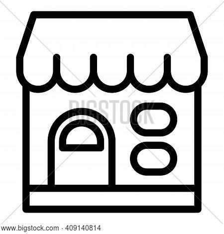 Marketplace Icon. Outline Marketplace Vector Icon For Web Design Isolated On White Background