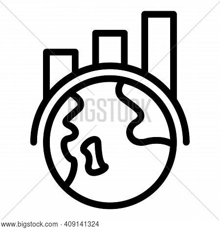 Global Market Icon. Outline Global Market Vector Icon For Web Design Isolated On White Background