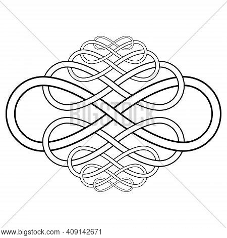 Calligraphy Knot Pattern From The Infinity Symbol Vector Calligraphy Knot Infinity Sign