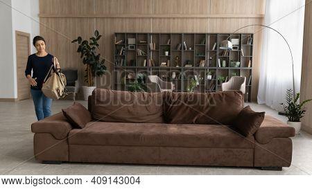 Indian Female Renter In Modern Renovated Living Room