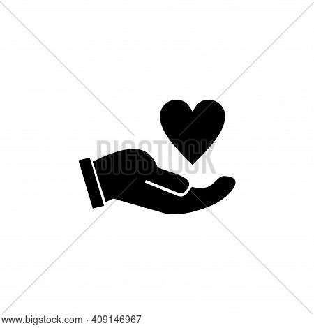 Hands Holding Heart Icon Vector. Hands Holding Heart Icon Isolated On White Background. Hands Holdin