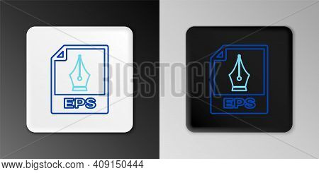 Line Eps File Document. Download Eps Button Icon Isolated On Grey Background. Eps File Symbol. Color