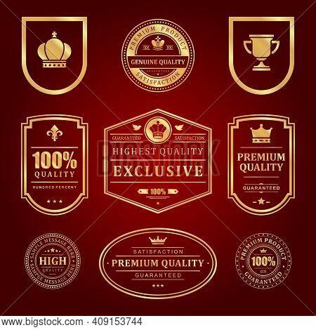 Gold Frames Premium Vector Labels And Logos Set
