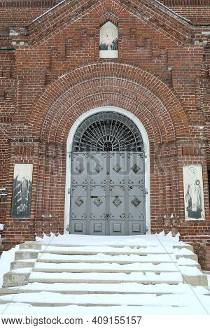 Door Of Temple Of The Mother Of God In Sviyazhsk