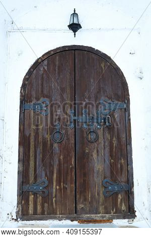 View Of Old Wooden Door