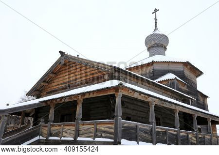 View Of Trinity Wooden Church In Sviyazhsk