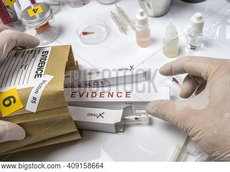 Different Samples Blood Samples To Analyze In The Laboratory Scientific, Conceptual Image