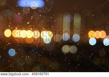 A Bright Blurred Circles Of Light Boke