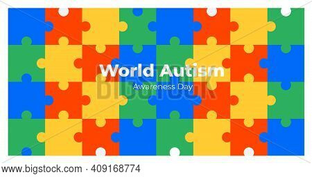 World Autism Awareness Day Background. Can Be Used For Banners, Backgrounds, Badge, Icon, Medical Po