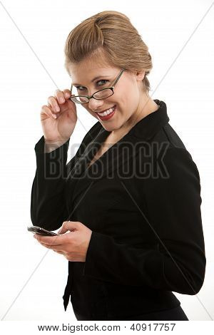 Business Woman wearing eyeglasses