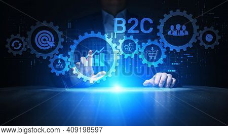 B2c Business-to-customer Marketing Strategy Cooperation Communication Finance Concept