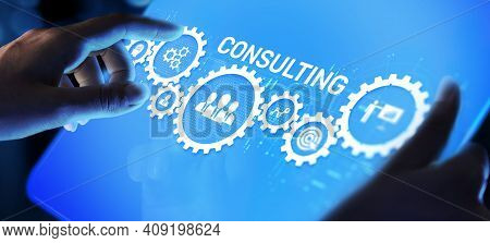 Consulting Firm Service Business Finance Solutions Concept