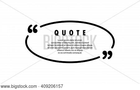 Quote Icon. Quotemark Outline, Speech Marks, Inverted Commas Or Talking Mark Collection. Blank For Y