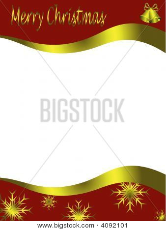 Vector Christmas Letter Template
