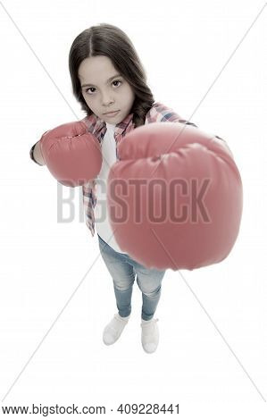 Feminist Upbringing And Female Rights. Fight For Her Rights. Female Rights And Liberties. Girl Boxin