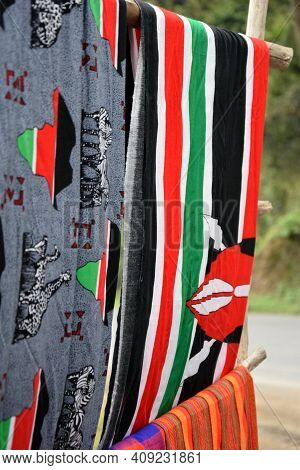 Typical Garments Of The Masai Tribe In Kenya