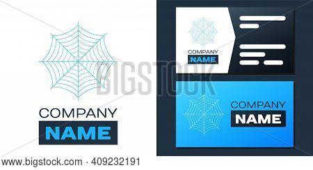 Logotype Spider Web Icon Isolated On White Background. Cobweb Sign. Logo Design Template Element. Ve