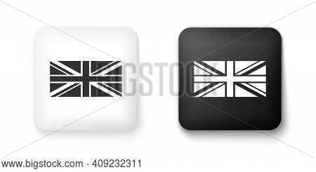 Black And White Flag Of Great Britain Icon Isolated On White Background. Uk Flag Sign. Official Unit