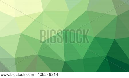 Abstract Geometric Green Rumpled Triangula Background Low Poly Style. Vector Illustration Graphic Ba